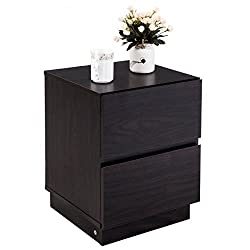 Particle board Nightstand Bedside End Table With Ebook