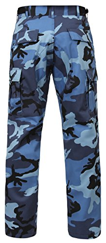 Rothco Bdu Pants, Sky Blue Camo, Small