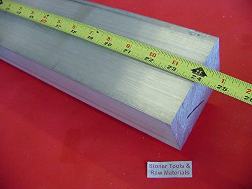 3'' X 4'' ALUMINUM 6061 FLAT BAR 24'' long SOLID T6511 3.000'' Plate Mill Stock by Stoner Metals