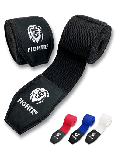 FIGHTR Boxing Hand Wraps for max. Stability and Protection   160 inches semi Elastic Hand Wraps with Thumb Loop for…