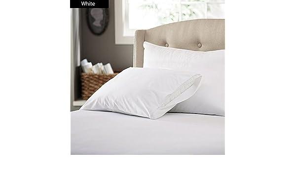 SACRO 100% algodón egipcio de 500 hilos 22,86 cm bolsillo profundo 4 piezas Juego de sábanas Euro rey IKEA tamaño Color blanco sólido cadorabo: Amazon.es: ...
