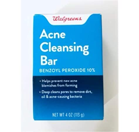 Amazon Com Walgreens Acne Treatment Cleansing Bar With 10 Percernt Benzoyl Peroxide Beauty