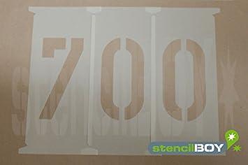 Zahlenschablonen 750mm nach DIN 1451