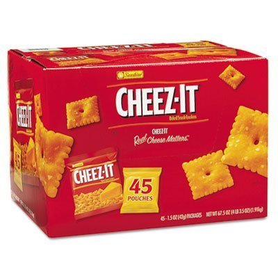 6 X Cheez-it Crackers, 1.5 oz Pack, 45 Packs/Box, Sold as 1 Carton by Kellogg's
