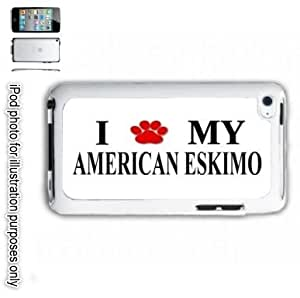 American Eskimo Paw Dog iPOD 4 Touch Hard Case Cover Shell White 4th Generation White