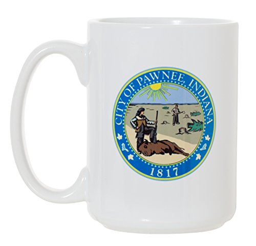 City of Pawnee - TV Show Parks & Recreation - Large 15 oz Double-Sided Coffee Tea -