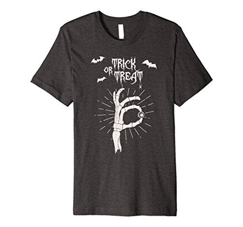 Mens Trick or Treat - Halloween Creative Costume Idea Shirt Large Dark (Creative Group Costume Ideas For Halloween)