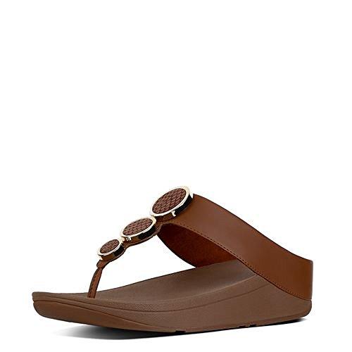 FitFlop Women's Halo Toe Thong Sandals Dark Tan 7 M US ()