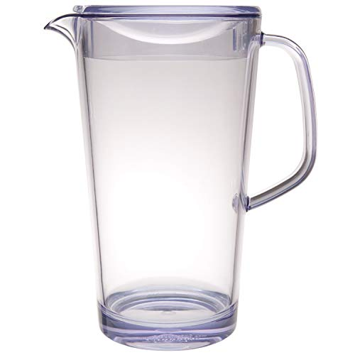 Service Ideas 10-00403-000 Cold Beverage Pitcher with Lid, 1.9 L, Clear (Service Ideas)