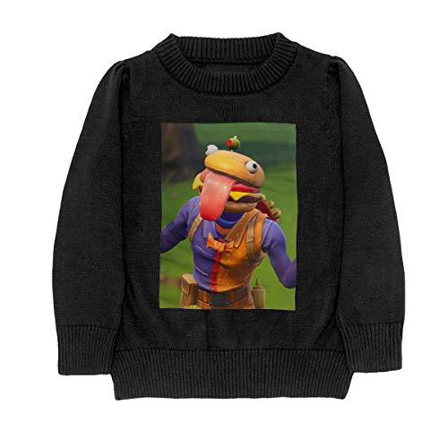 BEEF BOSS Child Boy Girl Long Sleeve Crew Neck Funny Knit Tops T-shirt 31