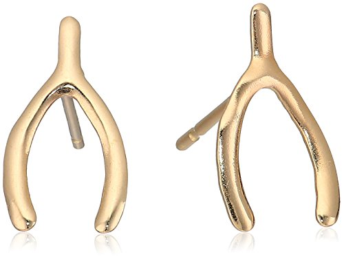 Wishbone Gold Rings (10k Yellow Gold Twig Stud Earrings)