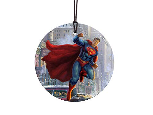 Trend Setters DC Comics - Superman - Thomas Kinkade Studios - Starfire Prints Hanging Glass Suncatcher -