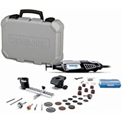 The Dremel 4000 variable-speed rotary tool kit offers the highest performance and most versatility of all Dremel rotary tools. The increased strength of its motor and electronic feedback circuitry enables consistent performance at all speed l...