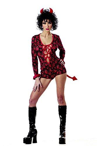 [Mememall Fashion Sexy Sassy She Devil Costume] (Sexy Beetlejuice Costumes)