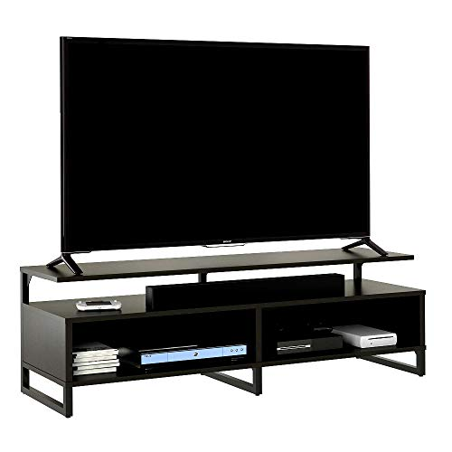 Skrootz TV Stand for 65 Inch TV Dark Brown Color Laminate Modern Style and Sturdy Construction ()
