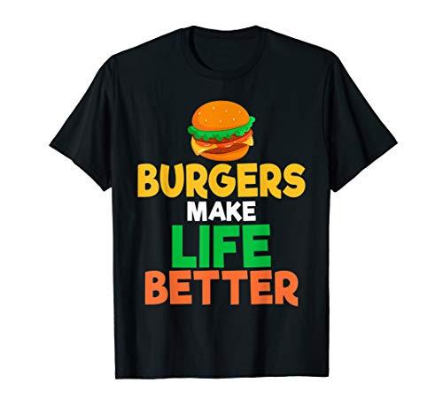 Burger King King - Burgers Make Life Better Cheeseburger Fan T Shirt