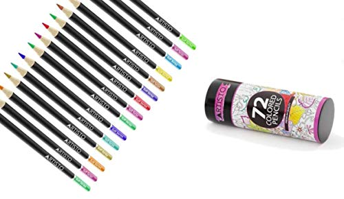 Artisto 72 Colored Pencils, Soft Core, Art Coloring Drawing Pencils for Adult Coloring Book, Sketch,Crafting Projects by Artisto (Image #5)