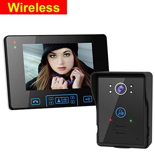 2.4G Wireless Door Phone Doorbell Intercom System HD Digital Camera Night Vision 7 Inch Door Bell Home Security Monitor with Wireless unlock Control