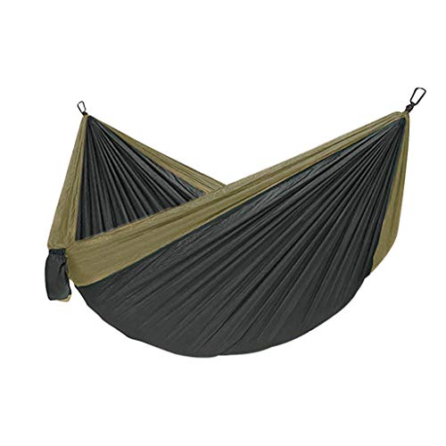 Portable Hammock Camping Hammock with 2 Hanging Straps Compact Lightweight Easy to Pack Hammock for Beach, Traveling, Hiking, Mountain, Adventure, Outdoor Jungle (Blue)