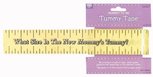 Amscan Delightful Tummy Measure Game Baby Shower Party Novelty Favors,  2in x 150ft, Yellow