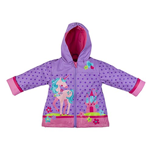 Stephen Joseph Girls' Little Rain Coat, Unicorn, 5/6