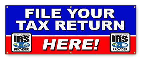 2 Ft X 6 Ft Income Tax Banner Sign File Income Tax Return Accountant Irs W2 Refund
