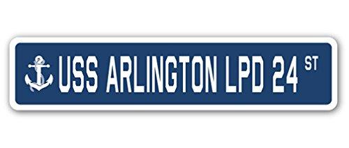 USS Arlington LPD 24 Street Sign us Navy Ship Veteran Sailor Gift