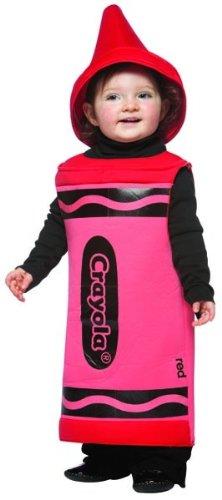 Toddler Red Crayon Costumes (Rasta Imposta Crayola Toddler Costume, Red, 3-4T)