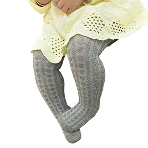 Besde Baby Girl Body-Stocking Mesh Tights Cotton Cute Children Stocking Baby Pantyhose (S, Gray) (Girls Halloween Tights)