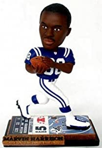 Indianapolis Colts Marvin Harrison Ticket Base Forever Collectibles Bobblehead