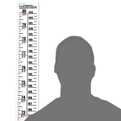 - Height Rule - Fractional/Metric - 80 Inch/203 Centimeter Long - White