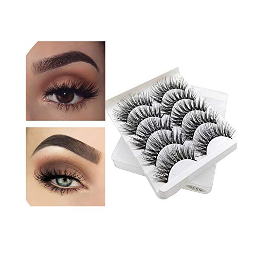 5 Pairs Natural False Eyelashes Fake Lashes Long Makeup 3d Mink Lashes Extension Eyelash Mink Eyelashes For Beauty Women Makeup,as picture2
