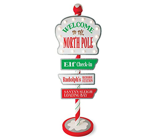 Burton and Burton 9734217 Lighted Welcome to The North Pole Sign Multicolor