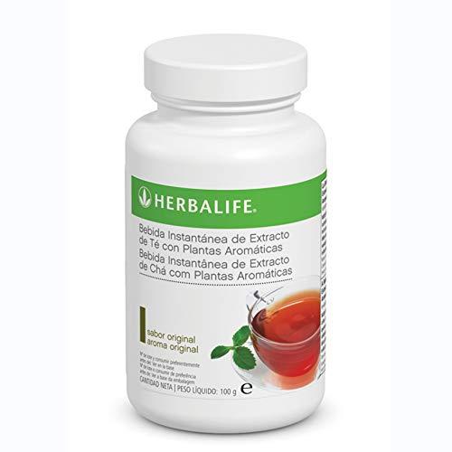 Bebida Instantanea a base de extracto de Te Herbalife con te negro, verde, flor de malva, flor de hibisco y semilla de cardamomo … (Te Original 100g)