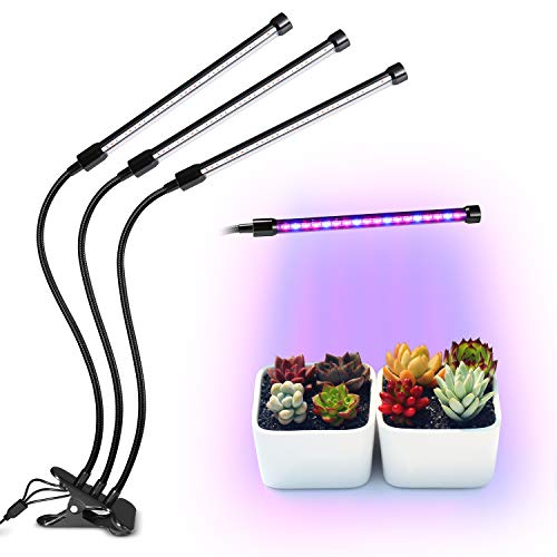 Plant Grow Lights, Homeasy LED Growing Lamp for Indoor Plants for Winter High Power Natural Light Bulbs with Red, Blue Spectrum, 3/6/12H Timing for Indoor Greenhouse Gardening