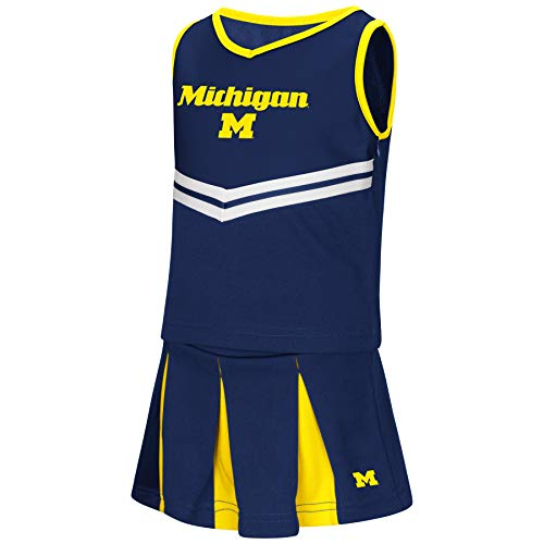 Colosseum NCAA Toddler-Girls Team Cheer Set-Michigan -
