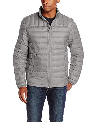 Tommy Hilfiger Men's Packable Down Jacket (Regular and Big & Tall Sizes), Cement, X-Large ()