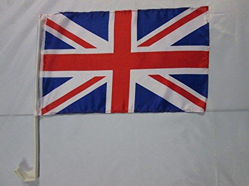 AZ FLAG Drapeau de Voiture Royaume-UNI 45x30cm - Carflag Anglais - UK - Grande Bretagne 30 x 45 cm