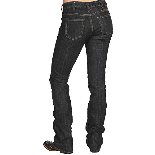 - Cowgirl Tuff Women's Dark Wash Boot Cut Jeans Blue 33W x 31L