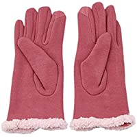 UNKE Magic Touch Screen Gloves Thermal Telefingers Winter Gloves for Women,Pink