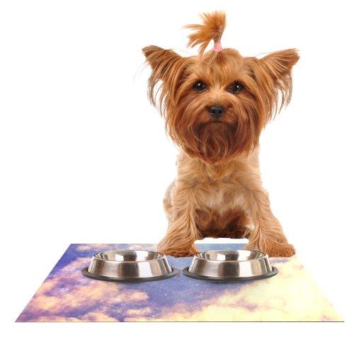 Kess InHouse Rachel Burbee Exhale  Feeding Mat for Pet Bowl, 24 by 15-Inch