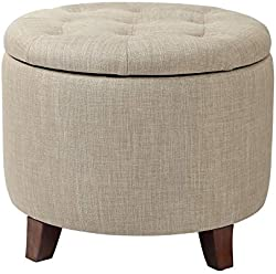 related image of Adeco Fabric Cushion Round Button Tufted Lift