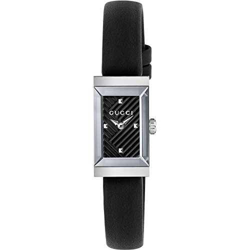 29ef6806956 Gucci G-Frame Black Dial Black Leather Ladies Watch YA128520.  598.80. Add  to cart