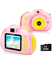 Cocopa Camera for Kids Cameras for Girls Video Camera 32 GB TF Card Toys for 5 4 6 Years Old Girls Selfie Digital Cameras for Children Birthday Gifts for Girls Aged 7 8 9 10 Toddlers (Pink) photo