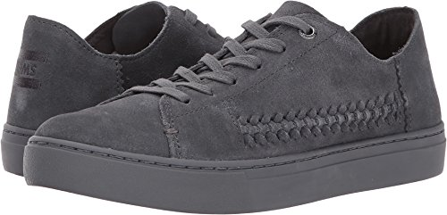 TOMS Womens Lenox Sneaker Forged Iron Grey Monochrome Deconstructed Suede/Woven Panel 5 B US sdIVgHLw
