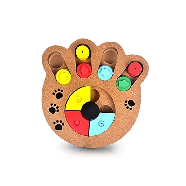 MEISO Unique Shuffle Puzzle Smart Toy for Puppies - Improve Concentration - Reduce hyperactivity - Fun Interactive IQ Game to Hide Treats in - Encourage Mental & Physical Skills of Pets 2