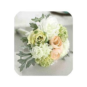 loveinfinite Artificial Flowers Peony Hydrangeas Posy Roses Silk Decorative Flower Bridal Bridesmaid Bouquet Home Wedding Decor One Bouquet,B 28