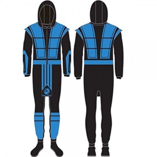 [Mortal Kombat SUB-ZERO Full Body Union Suit Costume Pajamas - LIMITED EDITION (Medium)] (Sub Zero Costumes)