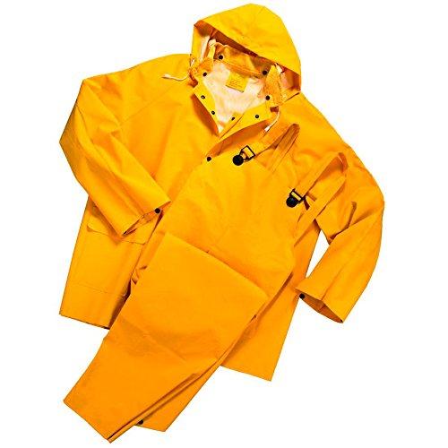 3-Piece Rain Suit Yellow - Heavy Duty PVC RW-300 2XLarge - 3 Piece Pvc Rain Suit
