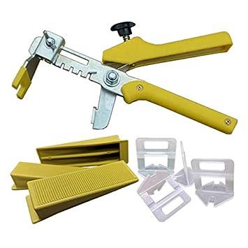 Starter Set Nivelliersystem Verlegesystem Fliese 100 Laschen 100 Keile 1 Zange